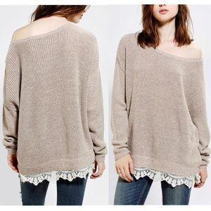 Urban Outfitters | Pins & Needles Lacetrim Sweater